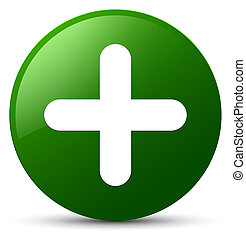 Plus icon green round button