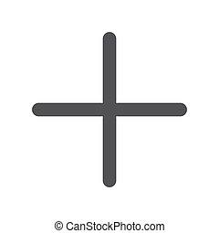 Plus icon - Plus, modern flat icon