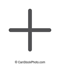 Plus, modern flat icon