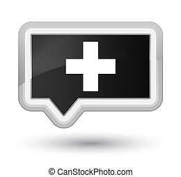 Plus icon prime black banner button