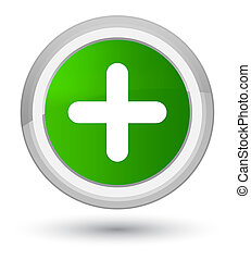 Plus icon prime green round button
