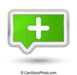 Plus icon prime soft green banner button
