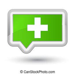 Plus icon prime soft green banner button