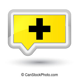 Plus icon prime yellow banner button