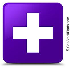 Plus icon purple square button