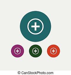 Plus icon simple illustration