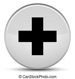 Plus icon special white round button