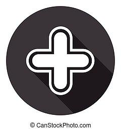 Plus Icon Web Cross Button