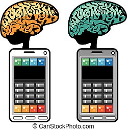 plus intelligent, téléphone, cerveau