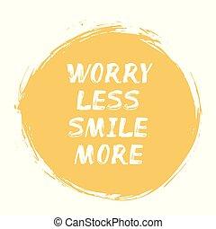 plus, -, lettrage, moins, sourire, positif, souci