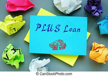 PLUS Loan phrase on the sheet.