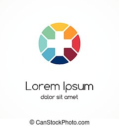 Plus logo. Medical healthcare hospital signl.