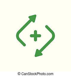 plus medical refresh arrows health symbol vector