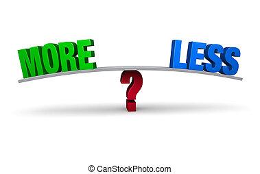 plus, ou, décider, entre, moins