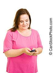 Plus Sized Model Texting