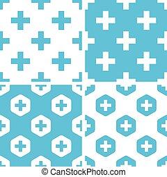 Plus symbol patterns set