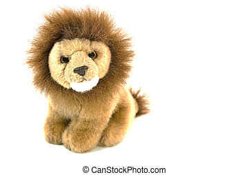 Plush lion - High resolution photo of an isolated plush lion...