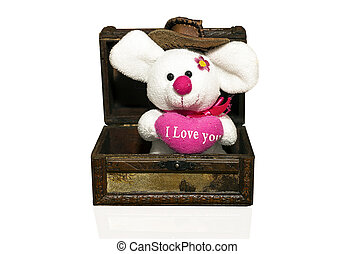 plush mouse in the box