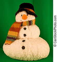 Plush Christmas Holiday Decorative Ornament Snowman