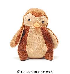 plush toy penguin isolated on white