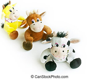 plush cows