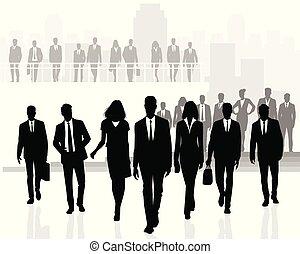 plusieurs, affaires gens, équipes