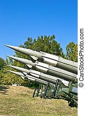 plusieurs, missiles, combat, visé
