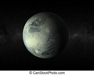 pluto planet - 3d rendering of the planet pluto