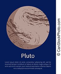 Pluto Planet Informative Poster with Sample Text