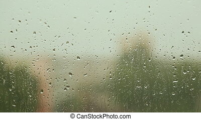 pluvieux, fenetres, verre, écoulement, gouttes pluie, weather.