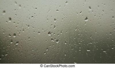 pluvieux, fenetres, verre, temps, écoulement, gouttes pluie