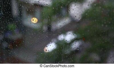 pluvieux, jour fenêtre