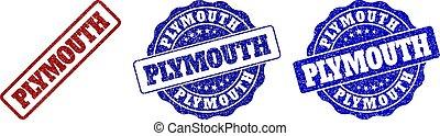 PLYMOUTH Grunge Stamp Seals