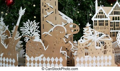 Plywood decorations for Christmas tree. Various plywood...