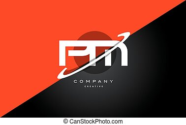pm p l red black technology alphabet company letter logo...