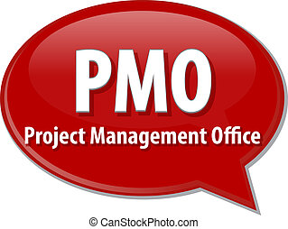 PMO acronym word speech bubble illustration - word speech...