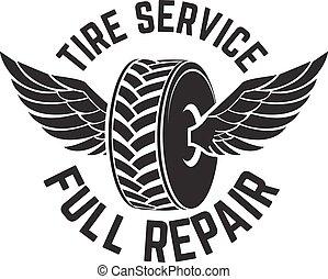 pneu, serviço