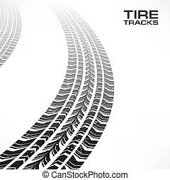 pneu traque, blanc