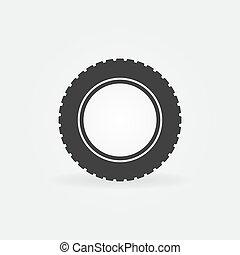 pneu, voiture, symbole, élément, vecteur, pneu, logo, icon., ou