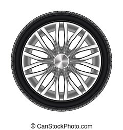 pneumático, branca, automático, isolado, borracha, roda, ou