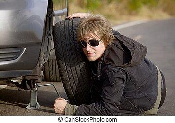 pneumático, mudança
