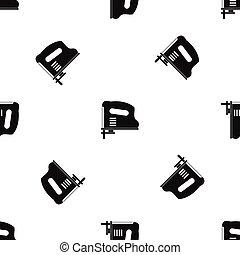 Pneumatic gun pattern seamless black