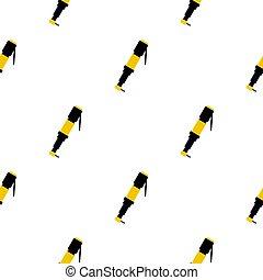 Pneumatic screwdriver pattern flat