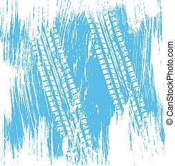 pneumatico blu, pista, fondo