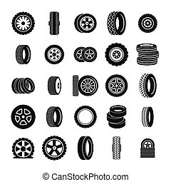 pneumatika, ikona, dát, jednoduchý, móda