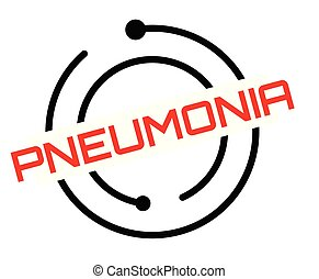 Pneumonia typographic stamp