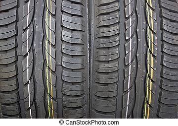 pneus, été, paire, nouvelle voiture
