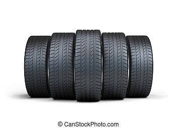 pneus, automobile