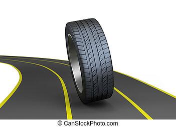 pneus, autoroute