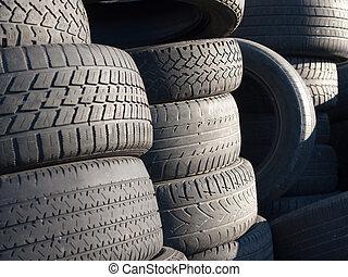 pneus, jeté